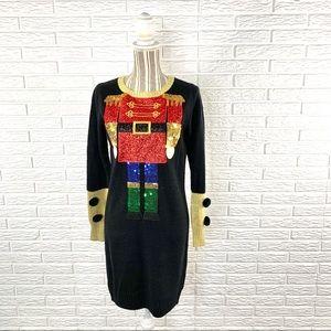 Reference Point Christmas Nutcracker Sweater Dress